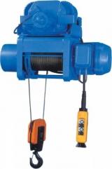 Таль электрическая тросовая, тельфер 0,3- 10 тн на высоту до 30 м