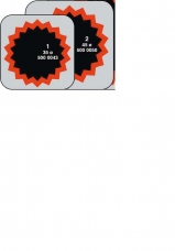 Заплата камерная REMA TIP-TOP № 2 (латка камерная) с красным обрамлением.